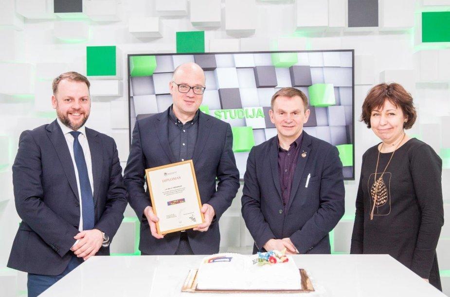 """""""Vilniaus knygų mugės"""" organizatoriai įteikė apdovanojimus"""