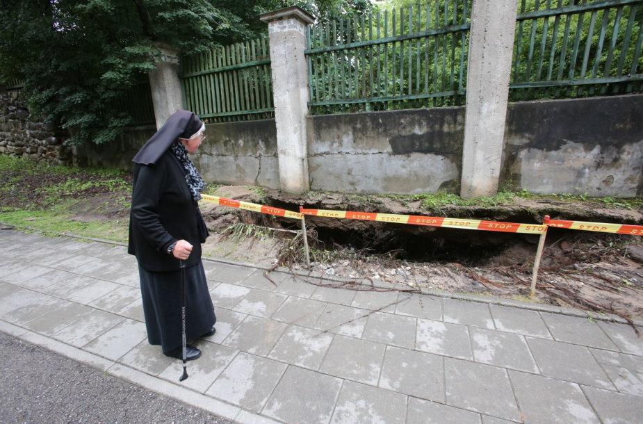Nuoplova Verkių gatvėje Vilniuje