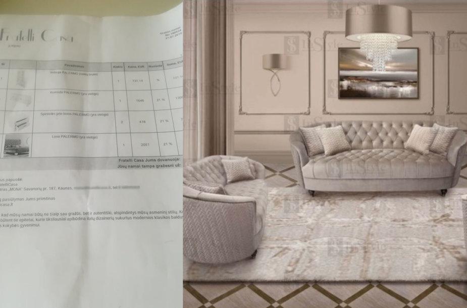 """Klienčių pirkti baldai iš salono """"Fratelli casa"""""""