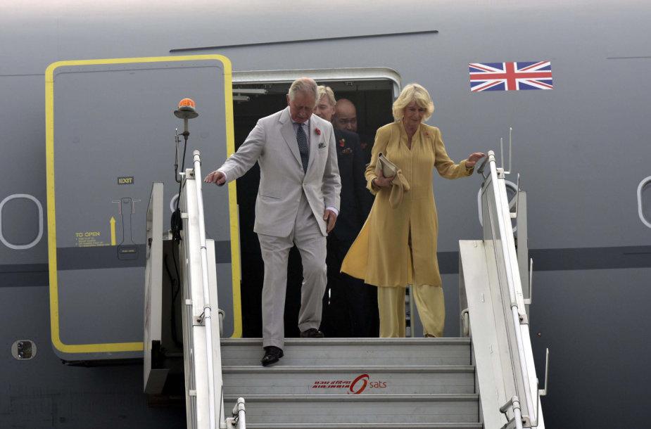 Britų karališkosios šeimos vizitas Indijoje