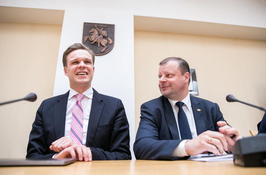 Gabrielius Landsbergis ir Saulius Skvernelis
