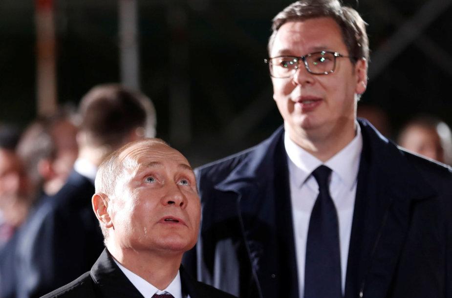 Vladimiras Putinas ir Aleksandaras Vučičius