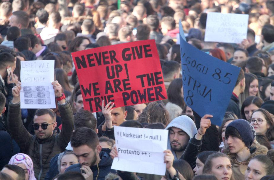 Studentų protestas Albanijoje