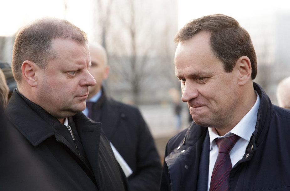 Saulius Skvernelis ir Valdemaras Tomaševskis