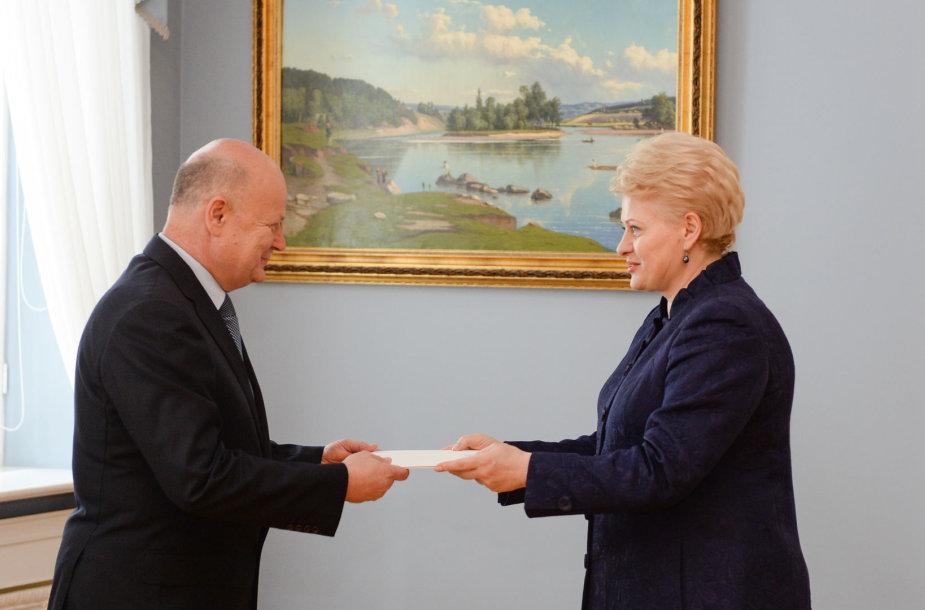 Vytautas Naudžius ir Dalia Grybauskaitė