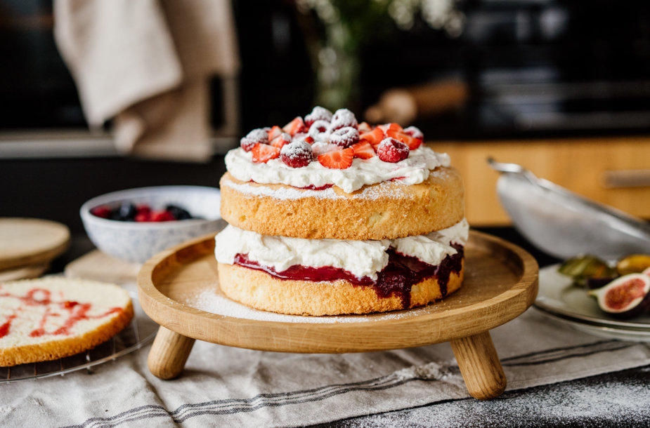 Biskvitinis Viktorijos pyragas