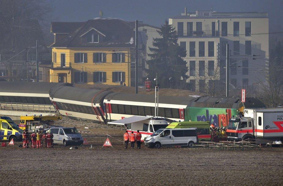 Traukinių avarija Šveicarijoje