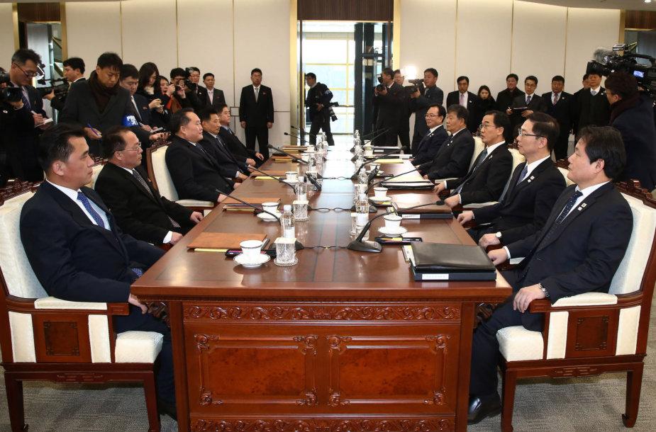 Šiaurės ir Pietų Korėjų delegacijų susitikimas