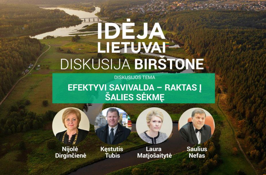 """""""Idėja Lietuvai"""" diskutuoja Birštone: efektyvi savivalda – raktas į sėkmę?"""