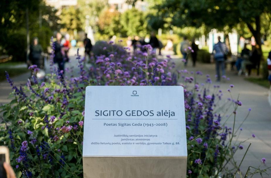 Atidaryta Sigito Gedos alėja