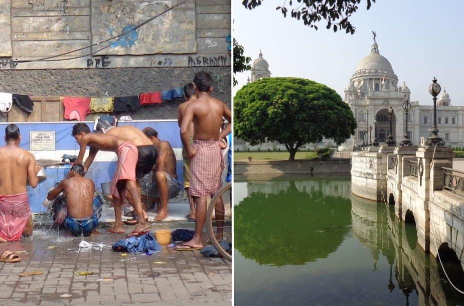 Kolkata: džiaugsmo miestas ar šiukšlynų sostinė?