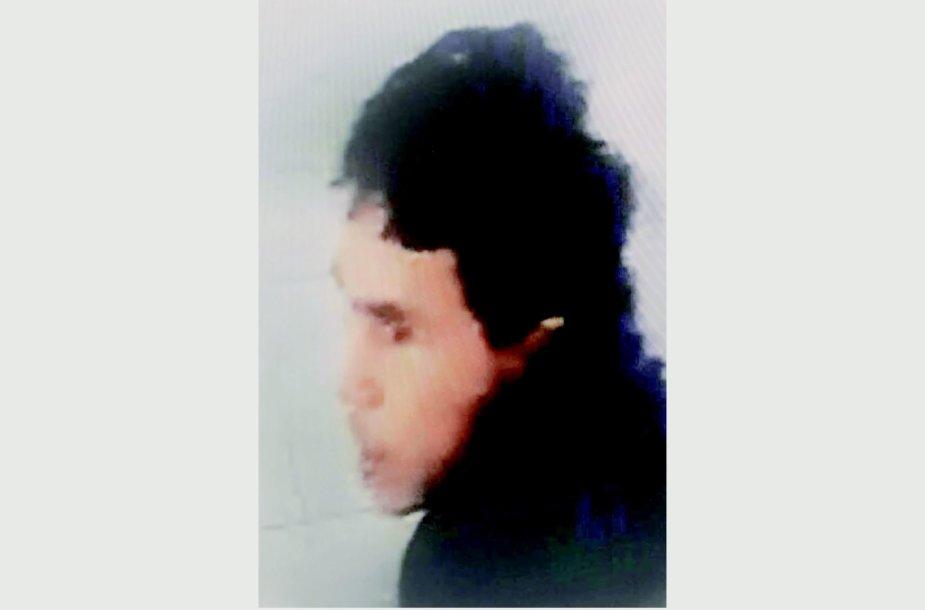 Turkijos policijos išplatinta įtariamo teroristo nuotrauka