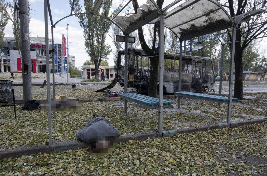 Per apšaudymus Donecke žuvo mažiausiai 10 žmonių