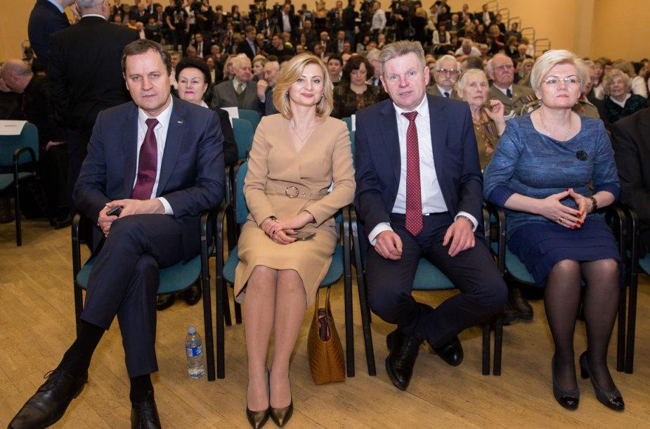 Valdemaras Tomaševskis, Rita Tamašunienė, Jaroslavas Narkevičius ir Vanda Kravčionok