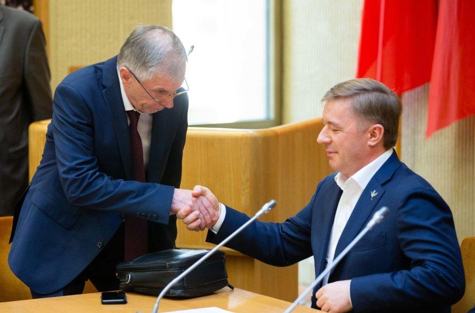 Gediminas Kirkilas ir Ramūnas Karbauskis