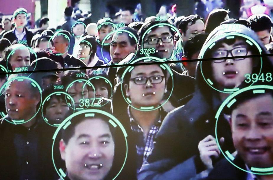 Veido atpažinimo technologijos Kinijoje