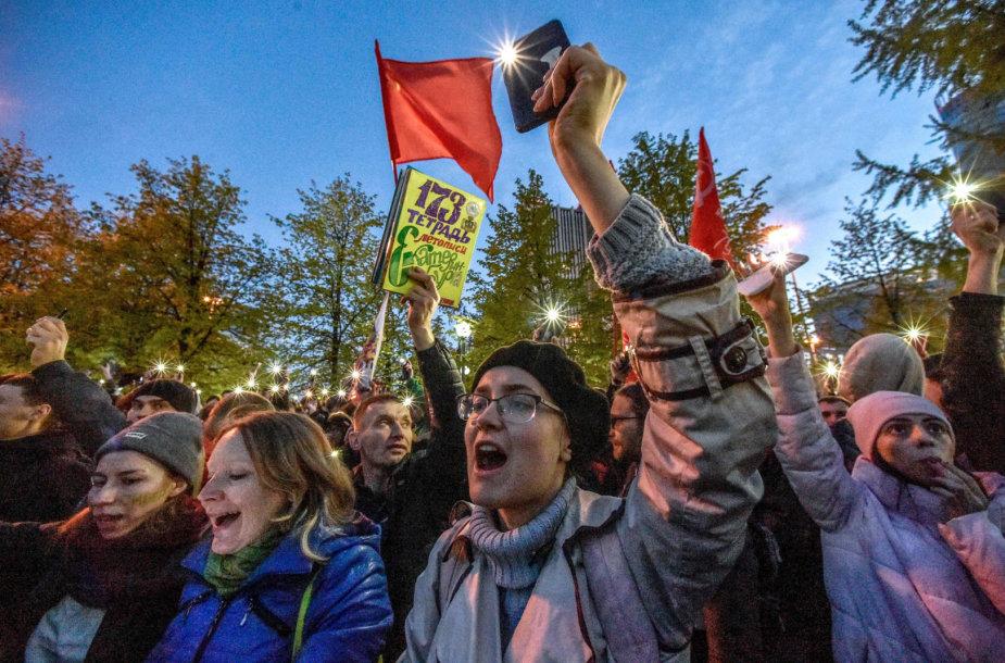 Aktyvistai Jekaterinburge