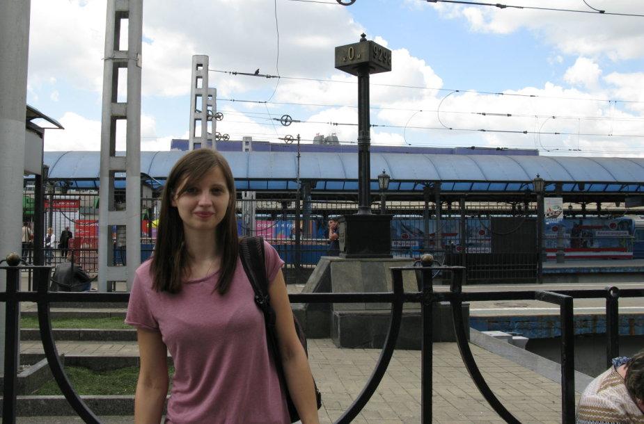 Belaukiant traukinio į Intą