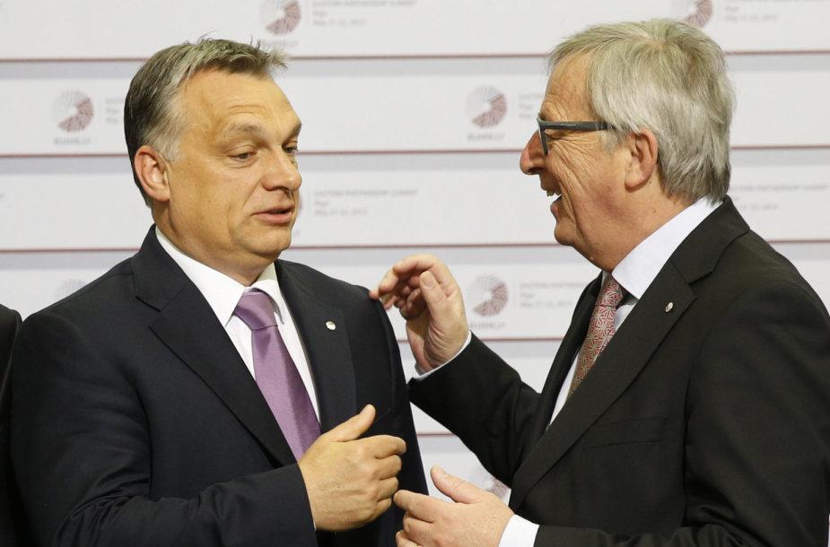 Viktoras Orbanas ir Jeanas-Claude'as Junckeris