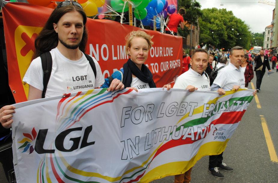Šeštadienį Norvegijos sotinėje Osle vyko EuroPride 2014 eitynės, kuriose dalyvavo ir Lietuvos atstovai.