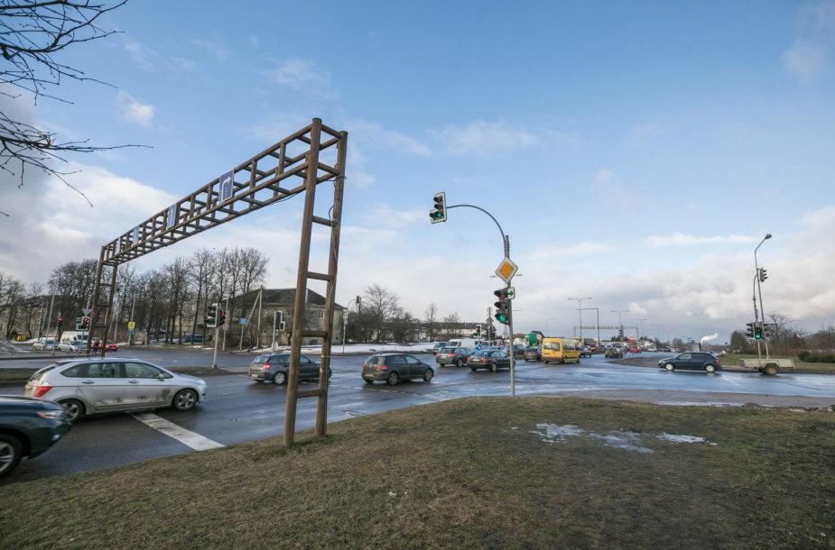 Liepkalnio, Žirnių gatvių ir Minsko plento sankryža