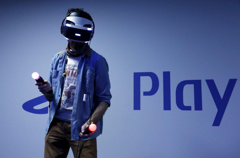 """""""PlayStation"""" virtualios realybės įrenginys"""