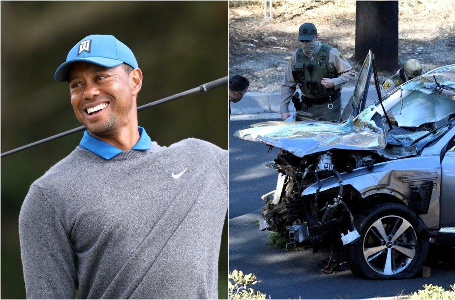 Tigeris Woodsas kreipėsi į sirgalius po avarijos