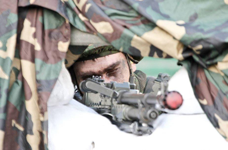 Karinės pratybos Šilalėje