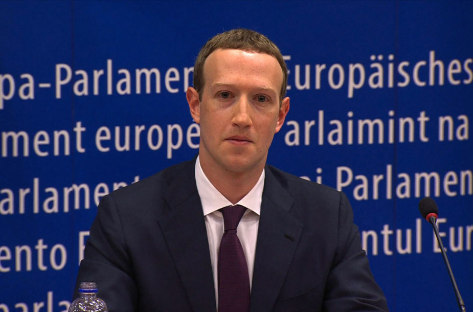 Markas Zuckerbergas Europos Parlamente