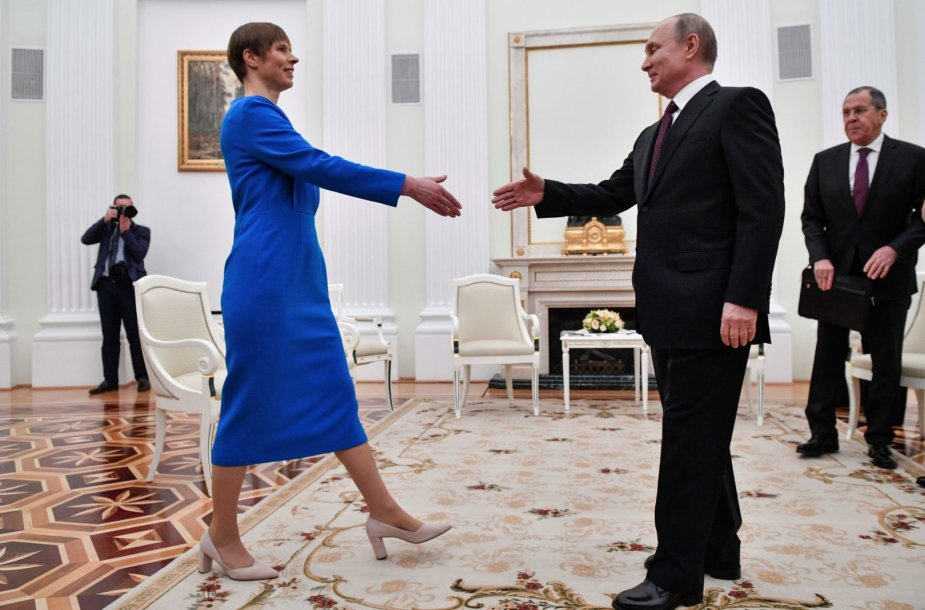 K.Kaljulaid ir V.Putino susitikimas Maskvoje