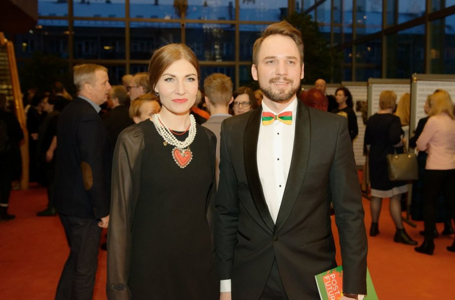 Jonas Sakalauskas su žmona Agne