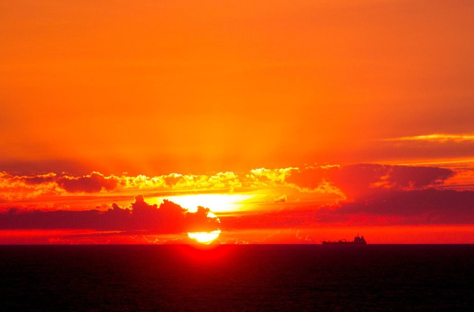 Saulėlydis Baltijos jūroje