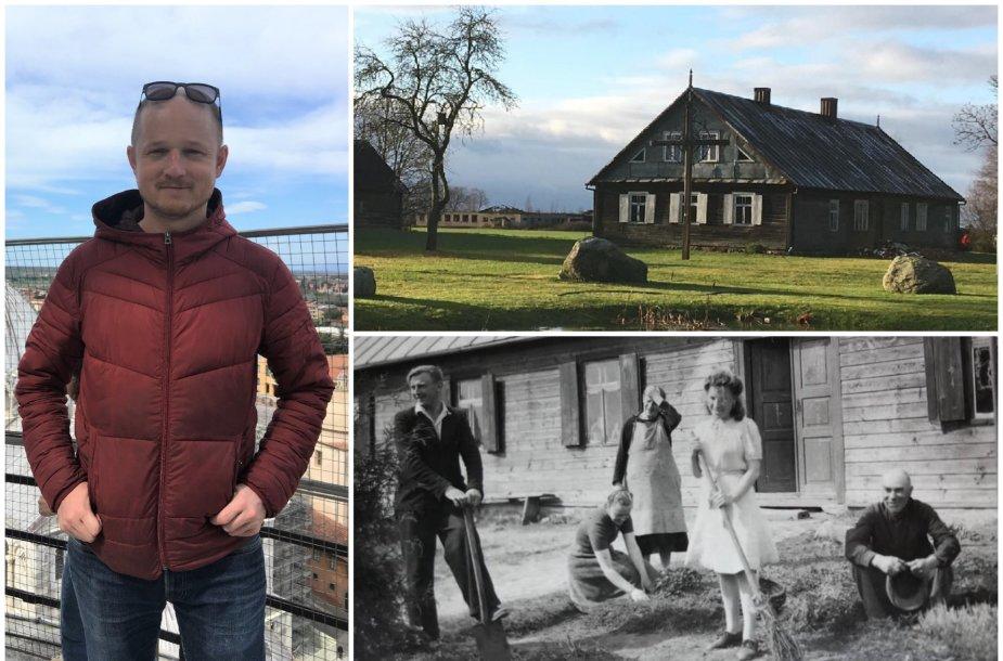 Rolandas Pupinis, jo prosenelio Juozapo Pupinio namas ir jo gyventojai