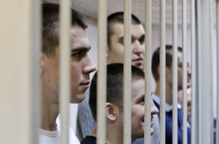 2012 metais sulaikyti demonstrantai teisme