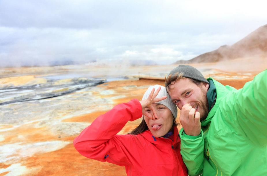 Turistai Islandijoje