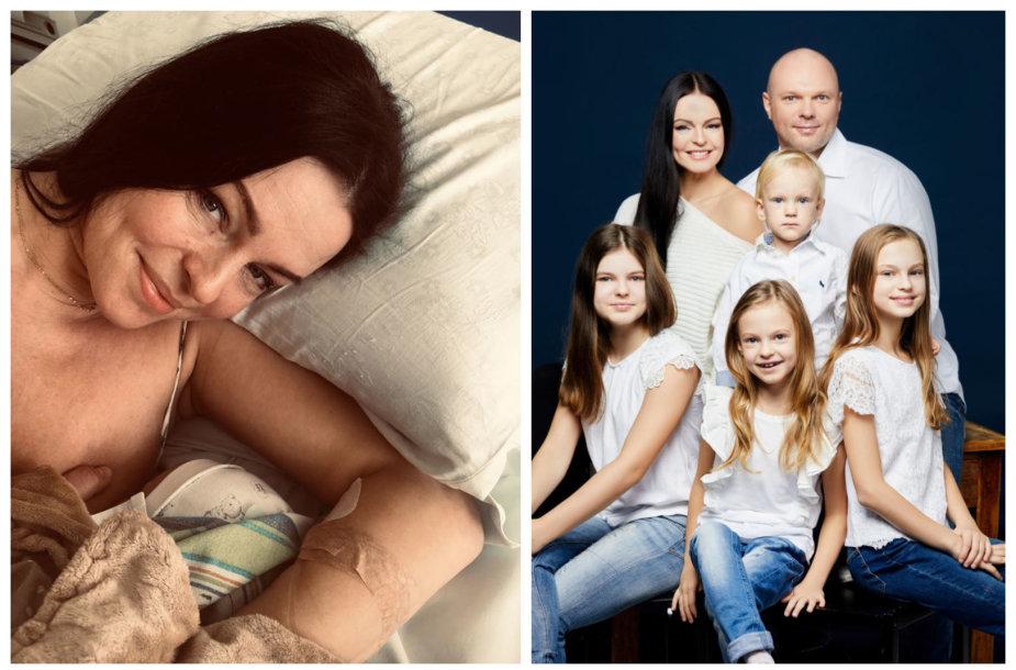 Jurgita Krivickienė su naujagimiu; Krivickų šeima