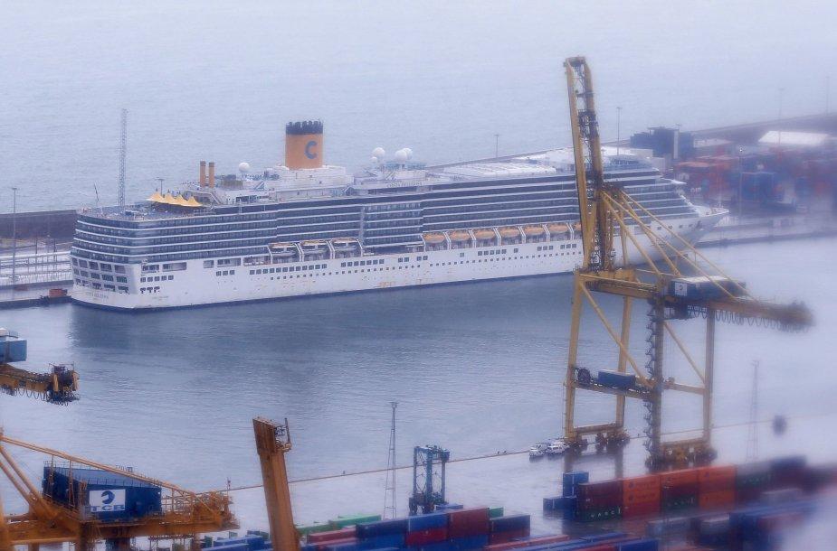 """""""Costa Deliziosa"""" laivas Barselonoje"""