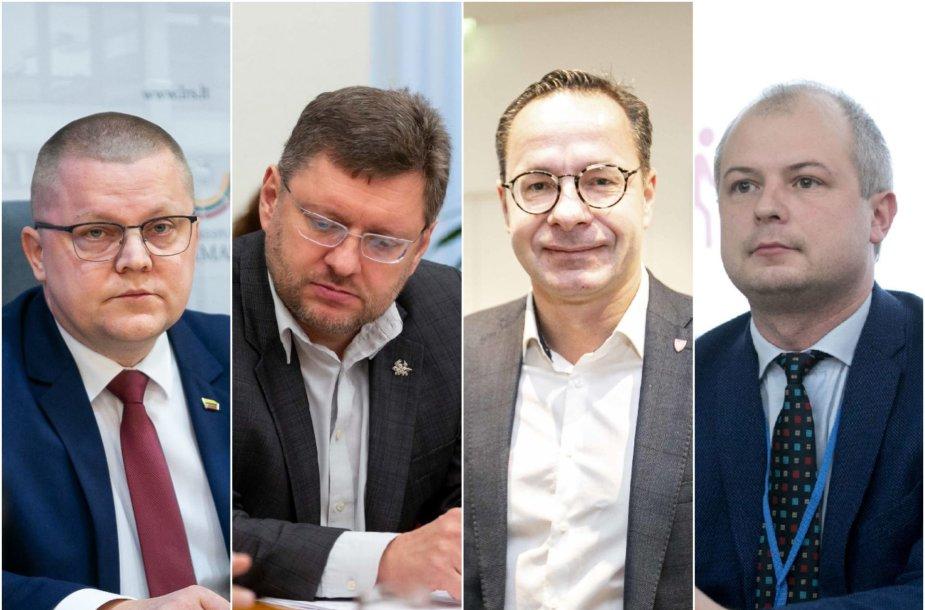 Dainius Gaižauskas, Valerijus Simulikas, Žygimantas Pavilionis ir Simonas Gentvilas