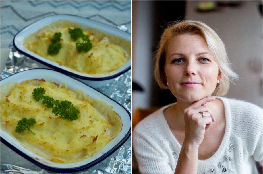 Dangira Šimašiutė ir jos ruoštas patiekalas