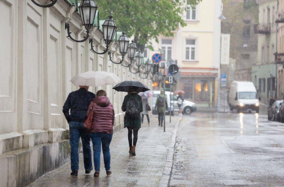 Permainingas oras Vilniuje