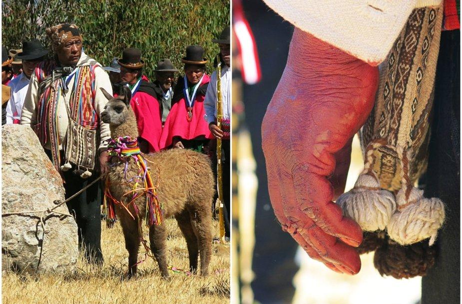 Aukojimo ceremonija Peru