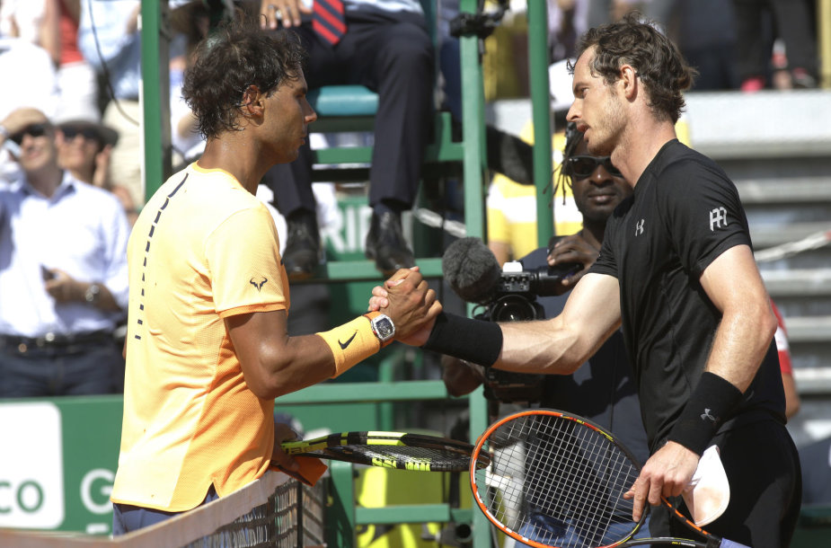 Rafaelis Nadalis ir Andy Murray turnyre Monte Karle