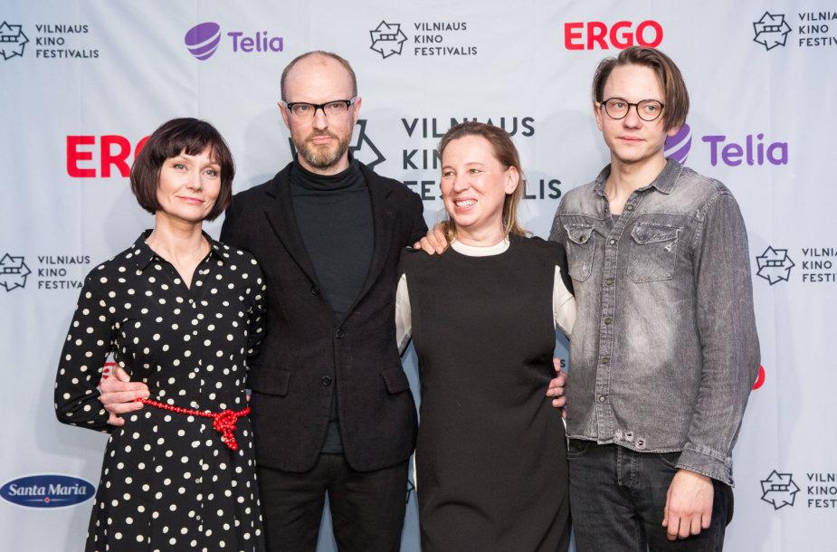 """""""Kino pavasario"""" nominantų paskelbimo ceremonijos akimirka"""