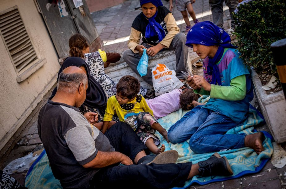 Pabėgėliai Izmiro mieste Turkijoje