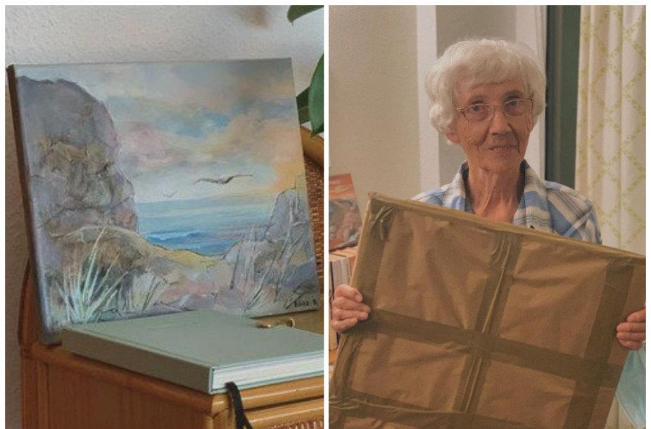 Danguolė Čepienė ir jos tapytas paveikslas