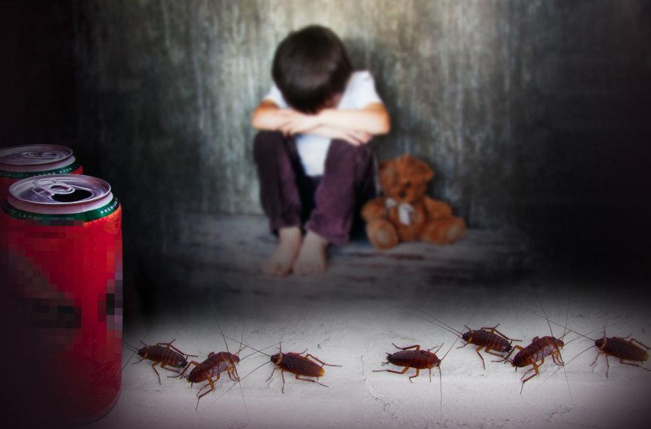 Antihigieniškos vaikų gyvenimo sąlygos