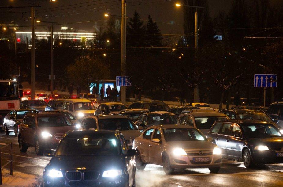 Prieššventinės eismo spūstys sostinėje