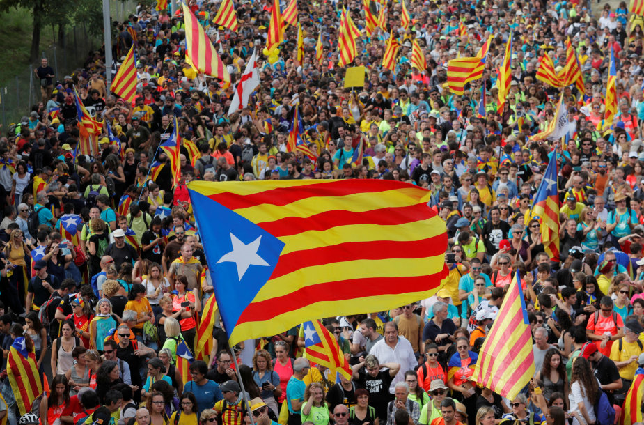 Katalonijoje vyksta visuotinis streikas