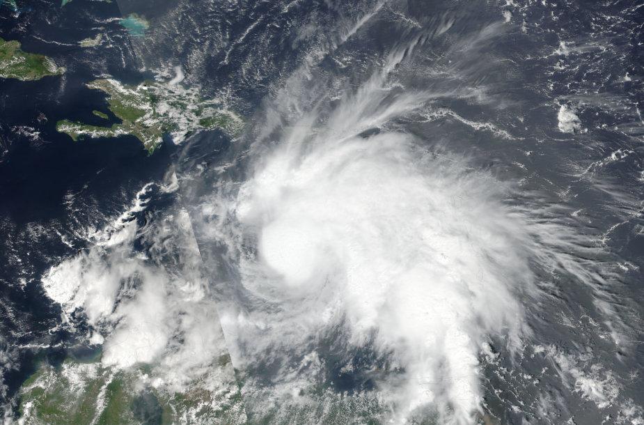 Uraganas Metju matomas iš kosmoso
