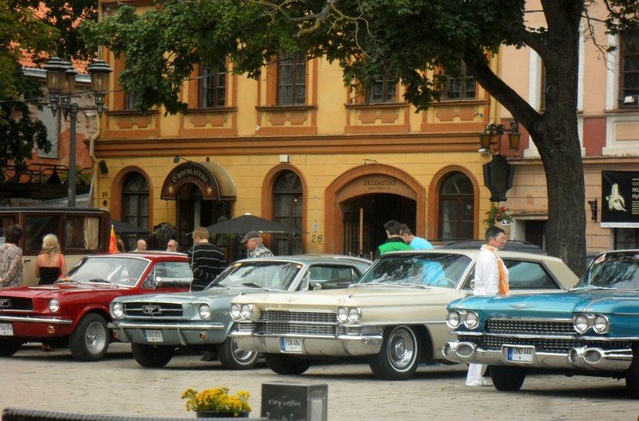Istoriniai automobiliai, dalyvausiantys Palangos lenktynių programoje